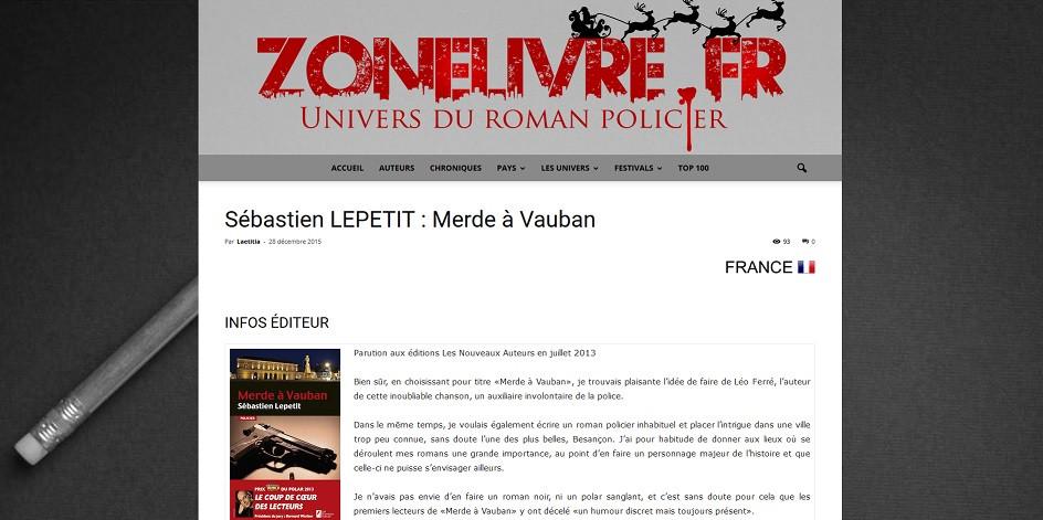 Merde à Vauban sur Zonelivre.fr