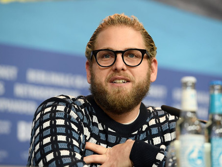 Kenya Barris and Jonah Hill at a comedy feature of Netflix