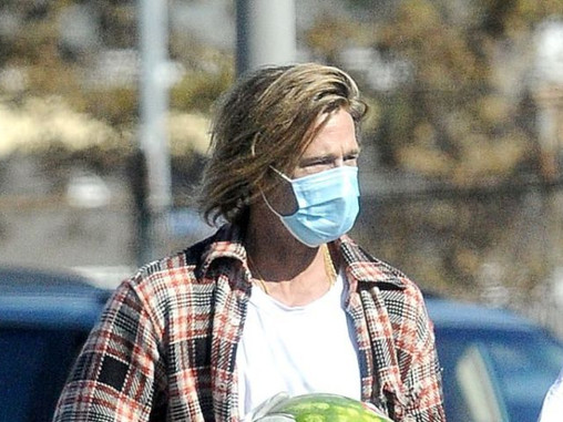 Brad Pitt supporting the Low Income Families of L.A. with Groceries