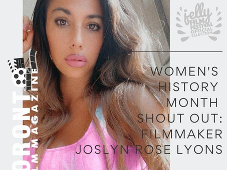 Women's History Month Shout Out: Filmmaker Joslyn Rose Lyons, RAP NOIR Premiering this month at JELL