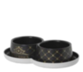 Luxurious Pets Double Trendy Dinner 2x 350ml / 2x 11.8 FL OZ - Bowl