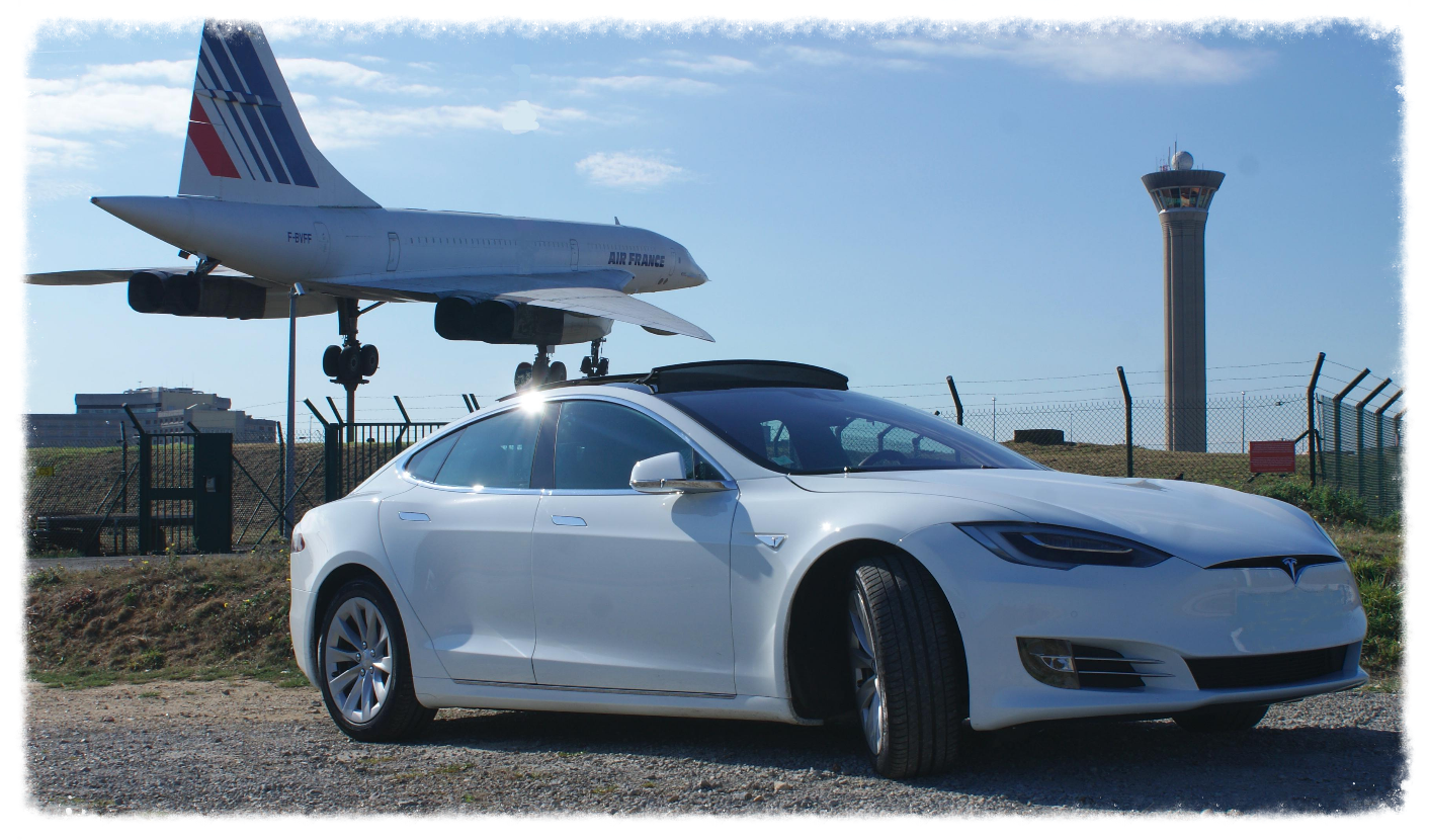 tesla air france transfer airport