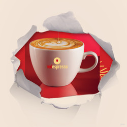 red cappuccino