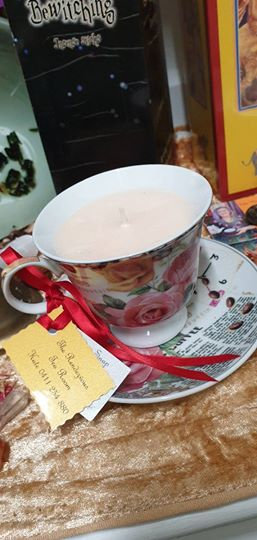Candle in a Teacup - Roses