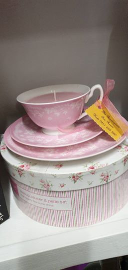 Candle in a Teacup - Pink Teacup