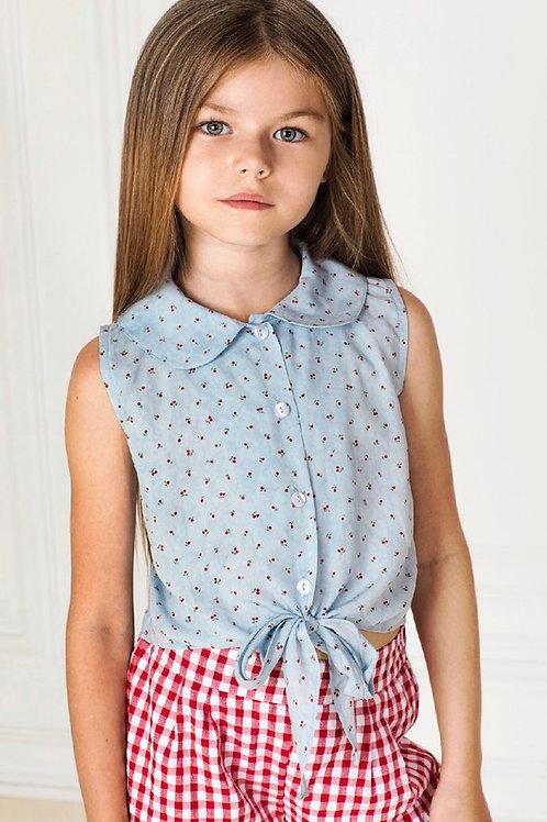 Sal & Pimenta Cherry Gingham Girl Short Set