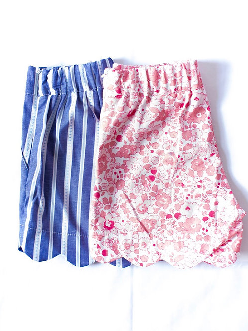 Peggy Green Libba Floral Girl Shorts 4t, 8