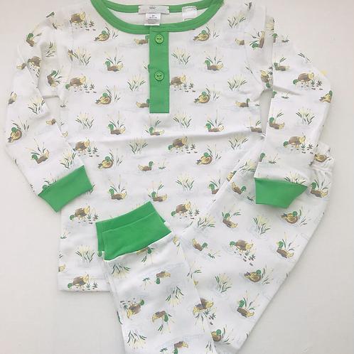 Baby Loren Pima Mallard Pajamas