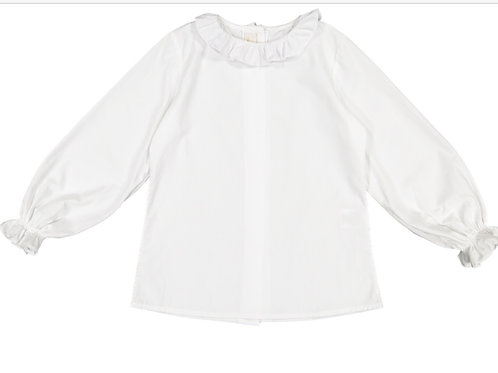 Sal & Pimenta White Frilled Collar Blouse