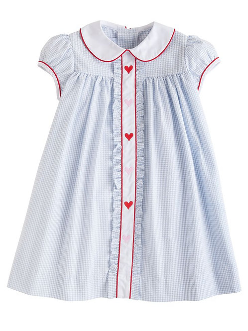 Little English Hearts Sally Ruffled Dress 18 mo, 3t