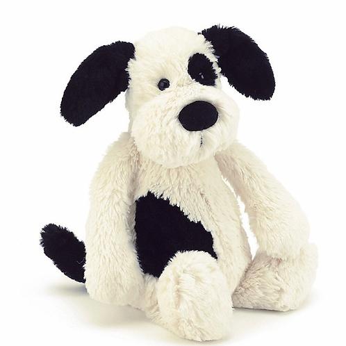 Jellycat Medium Bashfull Black and Cream Puppy