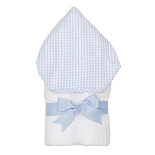 Hooded Towel-Light Blue Gingham