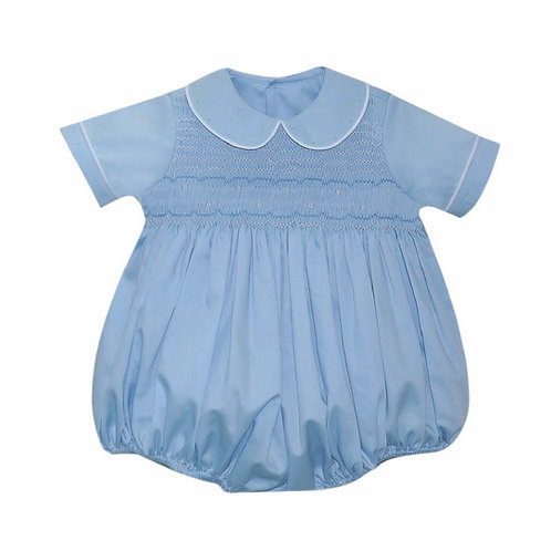Lullaby Set Light Blue Smocked Matt Bubble
