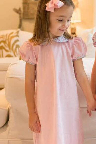 Lullaby Set Pink Knit Dress with Floral Trim