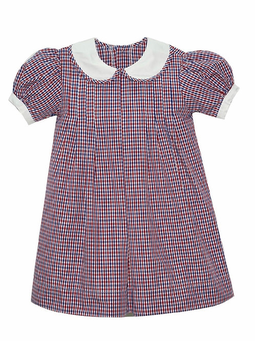 Lullaby Set Red and Navy Plaid Dress