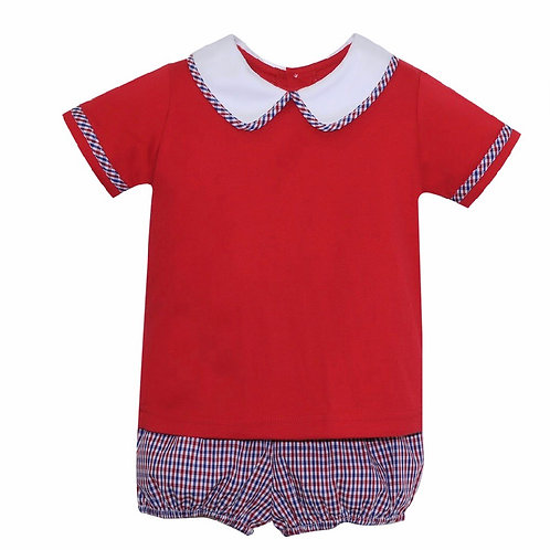Lullaby Set Red and Navy Bloomer Set