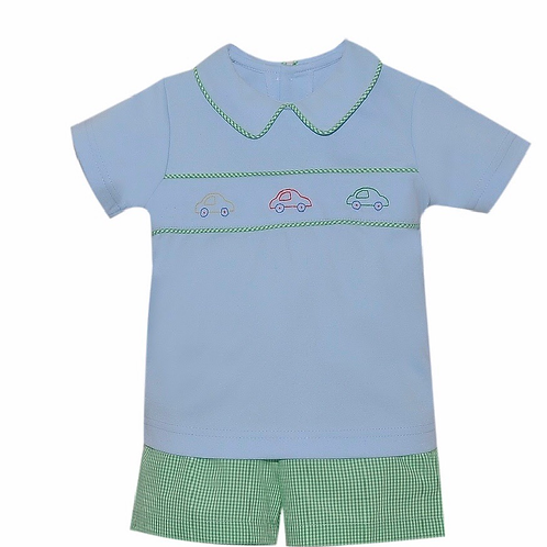 Lullaby Set Car Knit Short Set