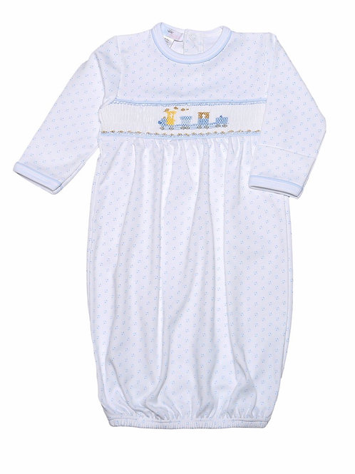 Baby Bliss Train Smocked Pima Gown