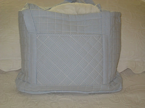 Little English Light Blue Quilted Tote