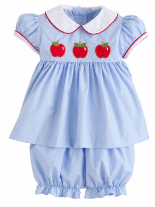 Little English Apple Poppy Bloomer Set