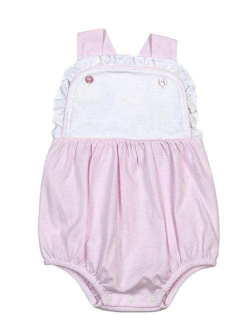 Baby Bliss Pima Pink Stripe Sun Bubble