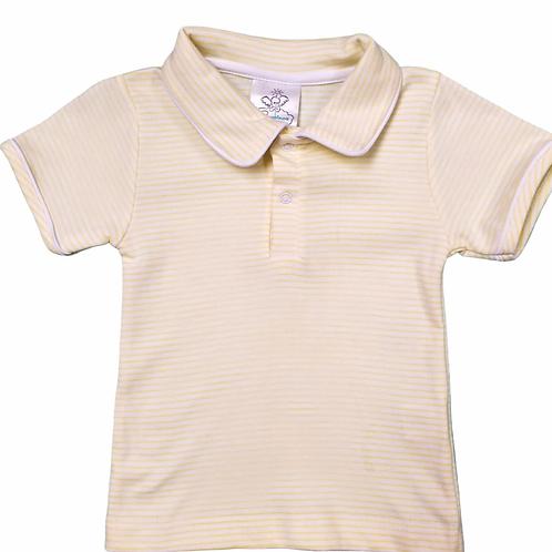 Bambinos Yellow Stripe Pima Polo