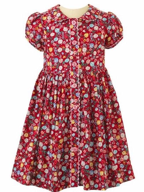 Rachel Riley Rose Dress-Dark Red