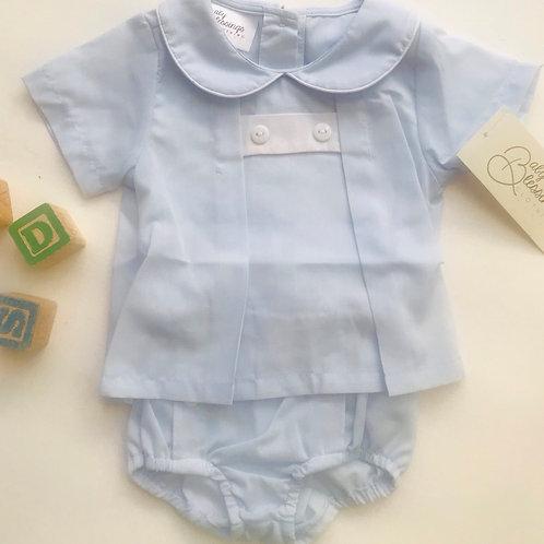 James Blue Diaper Set