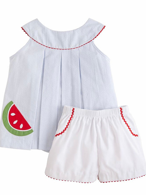 Little English Watermelon Robin Short Set 3t, 4t, 5