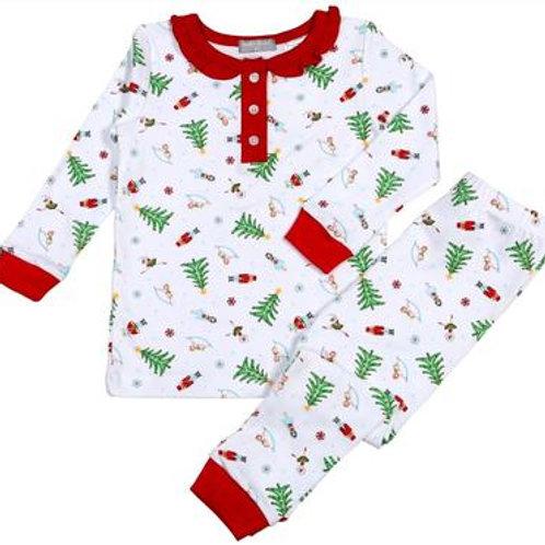 Baby Bliss Girl Nutcracker Pima Pajamas 7. 8