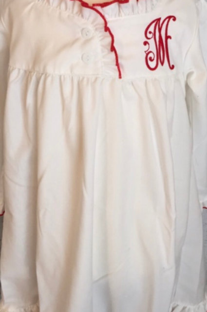 Sweet Dreams Nightgown with Red Trim
