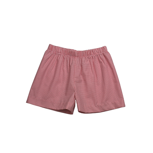 Lullaby Set Red Windowpane Shorts 2t, 3t, 4t