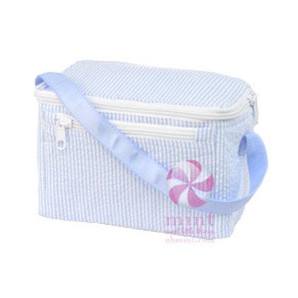 Light Blue Seersucker Lunchbox