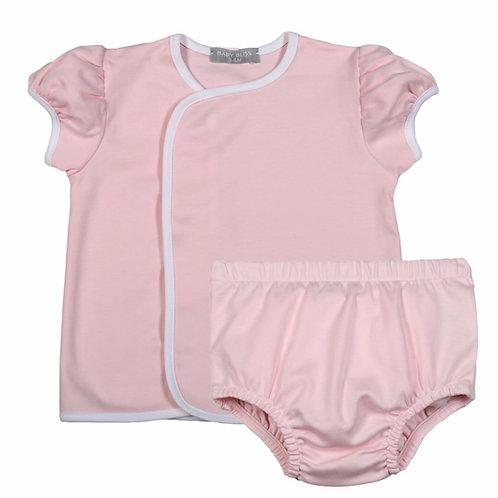 Baby Bliss Pima Pink Diaper Set