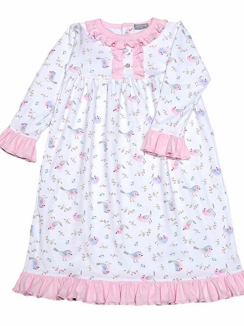 Baby Bliss Pima Little Birds Night Gown 2t