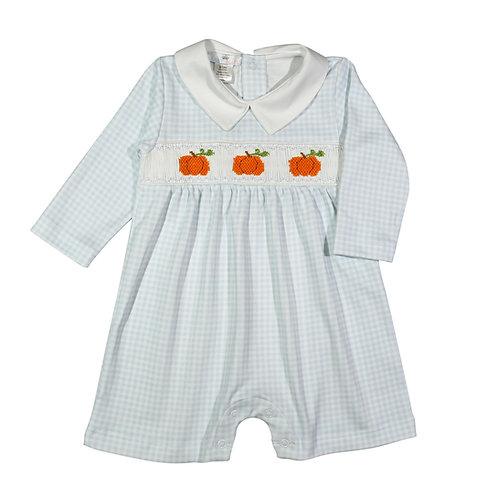 Baby Loren Pima Pumpkin Smocked Romper