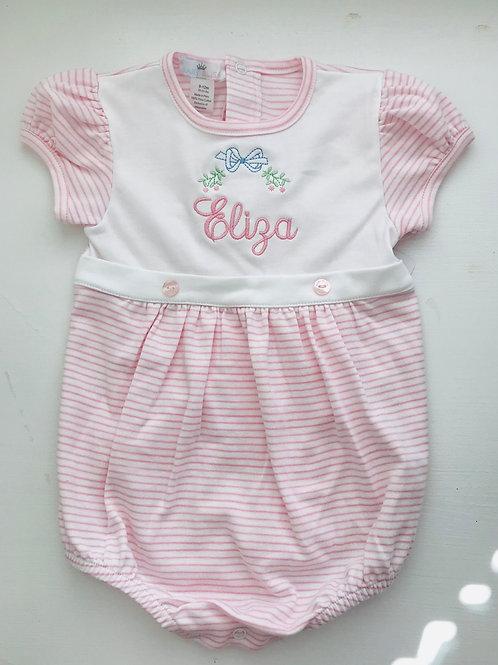 Baby Bliss Pima Pink Stripe Leslie Bubble
