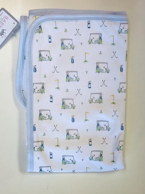 Baby Loren Pima Blue Golf Blanket