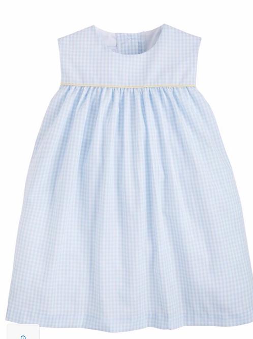 Little English Bellemeade Dress-Blue and Yellow