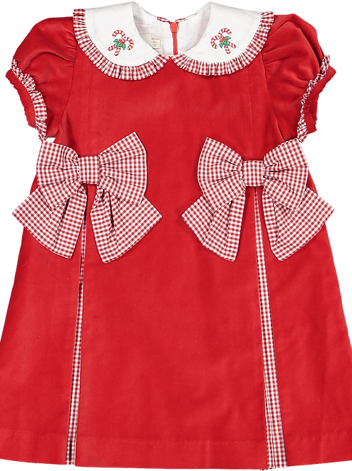 Sal & Pimenta Candy Cane Bows Dress