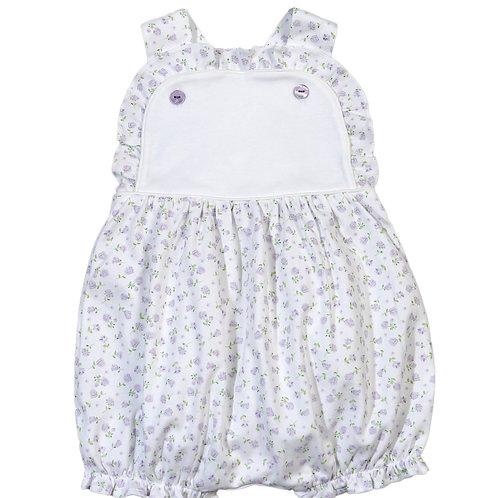 Baby Bliss Pima Lavender Floral Sun Bubble