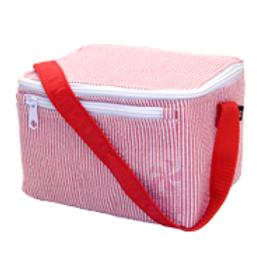 Red Seersucker Lunchbox