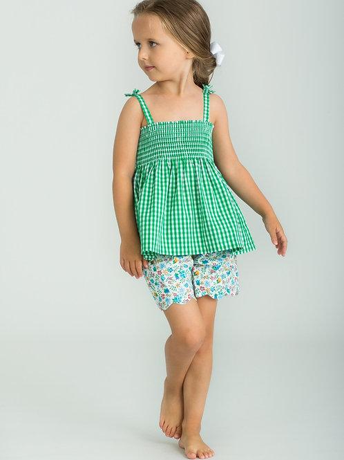 Little English Augusta Green Lucy Short Set