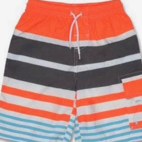 Snapper Rock Orange Stripe Swim Trunks 2,4,6