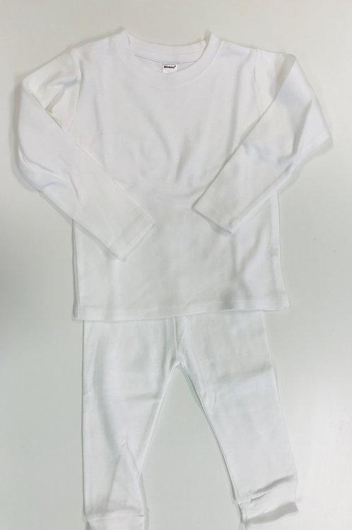 White Knit Pajamas