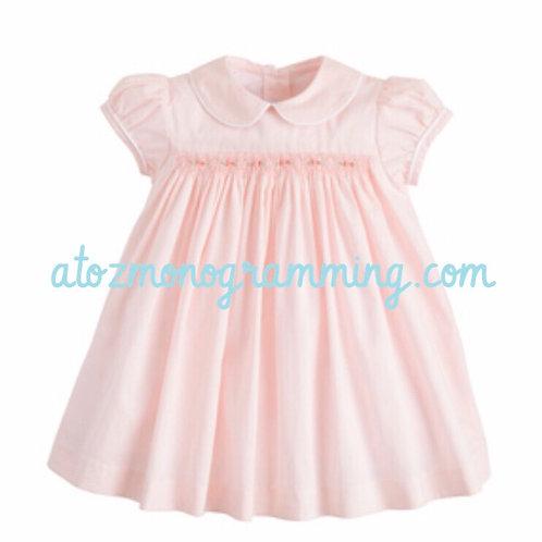 Little English Pink Smocked Charlotte Dress