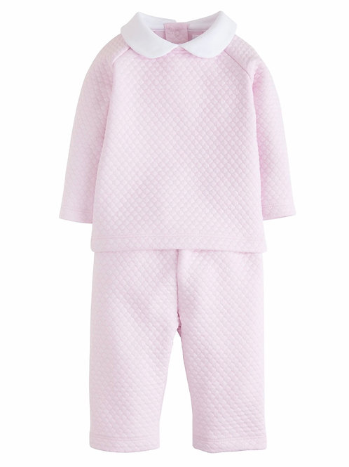Little English Pink Quilted Pant Set