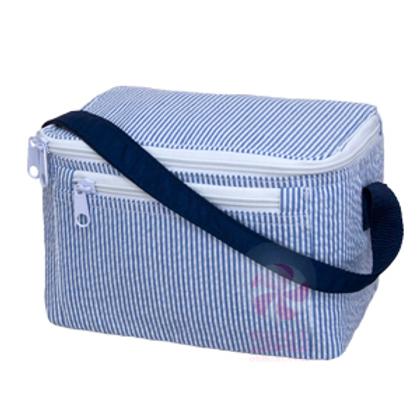 Navy Seersucker Lunchbox