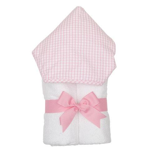 Hooded Towel-Pink Gingham