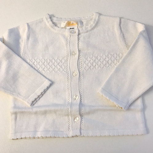 Petit Ami Ribbed White Sweater 3,18 mo